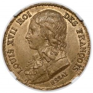 France, Louis XVII, Decime 1792 - Essai / Próba