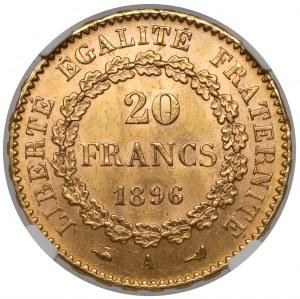 France, 20 francs 1896-A, Paris