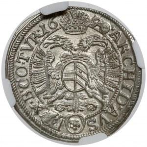 Austria, Leopold I, 3 krajcary 1670, Wiedeń