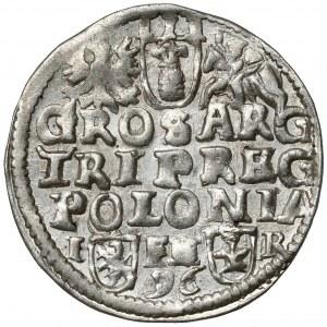 Zygmunt III Waza, Trojak Poznań 1596 - wysokie pop. - piękny