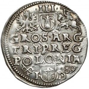 Zygmunt III Waza, Trojak Poznań 1589 ID - piękny