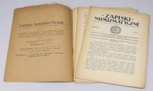 Lwowskie Zapiski Numizmatyczne, Rok I - 1925 nr 1