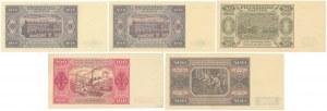 Zestaw banknotów 20 - 500 zł 1948 (5szt)