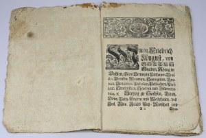 Ihrer Königl. Maj.[estät] in Pohlen, [et]c. Chur-Fürstens zu Sachsen, [et]c. [et]c. Münz=Mandat... 9. Julii Anno 1732