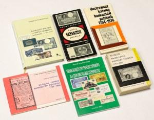 Stare katalogi Banknotów polskich, w tym Jabłoński, Kurpiewski, Wodzyński... (6szt)