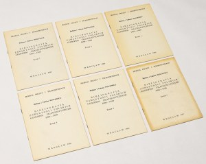 Bibliografia zawartości polskich czasopism filatelistycznych 1894-1939, Zeszyt 1-6 (6szt)