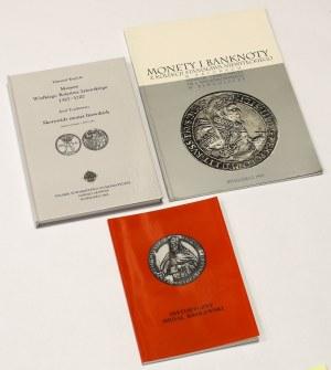 Zestaw literatury numizmatycznej (3szt) - Kopicki, Monety Wielkiego Księstwa Litewskiego i inne