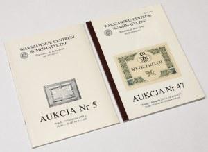 Katalogi aukcji zbiorów banknotów polskich - Dąbrowski (1993) i Lucow (2011)