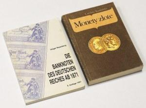 Kamiński - Monety złote 1851-1987 i Rosenberg - Die banknoten des deutschen reiches ab 1871 (2szt)