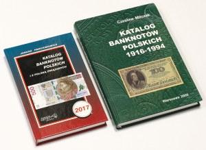 Katalogi banknotów polskich - stare wydania Miłczak, Parchimowicz (2szt)