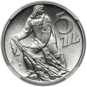 Rybak 5 złotych 1974 - Słoneczko i lekka skrętka