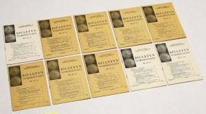 Biuletyn numizmatyczny 1980 - komplet (10szt)