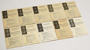 Biuletyn numizmatyczny 1981 - komplet (10szt)