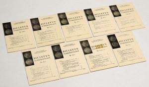 Biuletyn numizmatyczny 1975 - komplet (9szt)