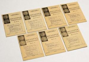 Biuletyn numizmatyczny 1983 - komplet (7szt)