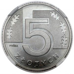Próba NIKIEL 5 złotych 1994