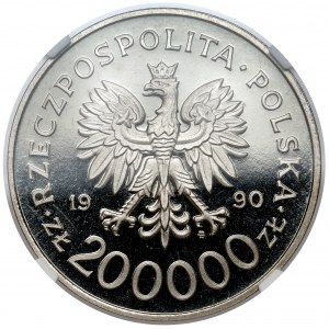 Próba NIKIEL 200.000 złotych 1990 Solidarność