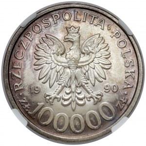 100.000 złotych 1990 Solidarność - odmiana B