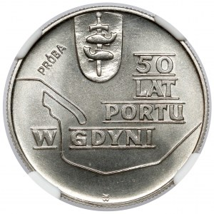 Próba NIKIEL 10 złotych 1972 Port w Gdyni - tło bez desenia