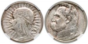 2 złote 1934 Piłsudski i Głowa kobiety - PIĘKNE - zestaw (2szt)