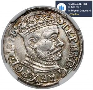 Stefan Batory, Trojak Olkusz 1582 - MENNICZY
