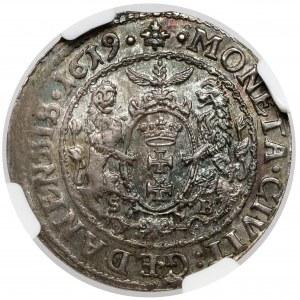 Zygmunt III Waza, Ort Gdańsk 1619 SA SB - PIĘKNY