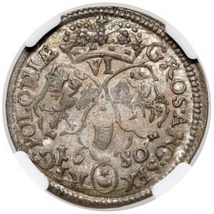 Jan III Sobieski, Szóstak Bydgoszcz 1680 - PIĘKNY
