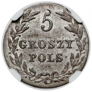 5 groszy polskich 1816 IB - piękne