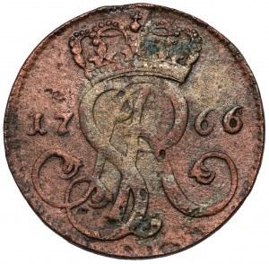 Poniatowski, Grosz 1766-g, Kraków - szeroka korona