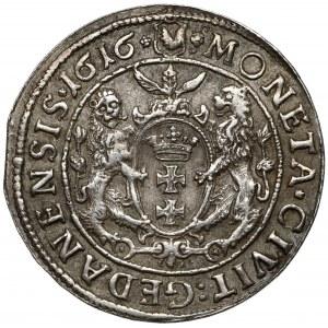 Zygmunt III Waza, Ort Gdańsk 1616 - kołnierz - napis nad koroną