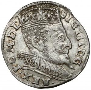 Zygmunt III Waza, Trojak Wilno 1595 - Prus bez belki