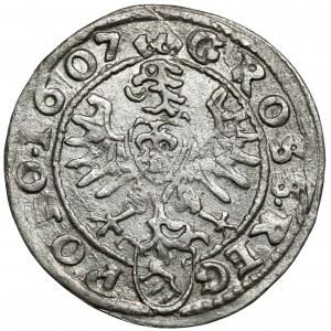 Zygmunt III Waza, Grosz Kraków 1607 - GROSS - b.rzadki