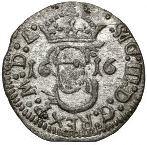 Zygmunt III Waza, Szeląg Wilno 1616 - koniczyna