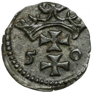 Zygmunt II August, Denar Gdańsk 1550 - rzadki