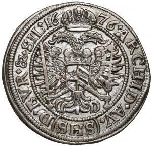 Śląsk, Leopold I, 6 krajcarów 1676 SHS, Wrocław