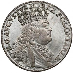 August III Sas, Ort Lipsk 1754 EC - mała głowa