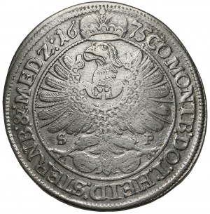 Śląsk, Sylwiusz Fryderyk, 15 krajcarów Oleśnica 1675 SP