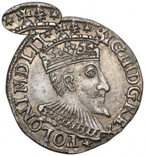 Zygmunt III Waza, Trojak Olkusz 1594 - znaki nad koroną - RZADKI