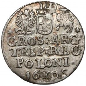 Zygmunt III Waza, Trojak Kraków 1602 - odwrócone 2