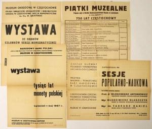 Afisze numizmatyczne, w tym na 1000 lat monety polskiej