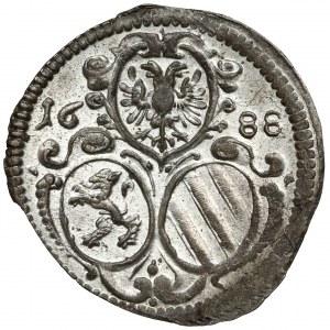 Austria, Leopold I, 2 fenigi 1688, Graz