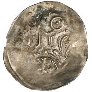Leszek Biały (lub następcy), Denar - postać z berłem - b.rzadki