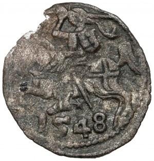 Zygmunt II August, Denar Wilno 1548 - rzadki
