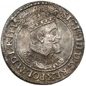 Zygmunt III Waza, Ort Gdańsk 1618 - liść klonu - ŁADNY