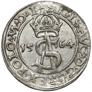 Zygmunt II August, Trojak Wilno 1564 - bardzo ładny