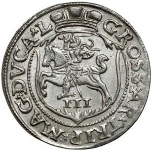 Zygmunt II August, Trojak Wilno 1563 - bez DG - LITVA - piękny