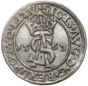 Zygmunt II August, Trojak Wilno 1563 - z DG - LITV - rzadki