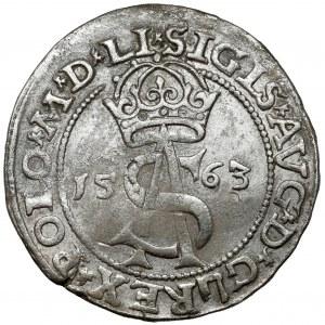 Zygmunt II August, Trojak Wilno 1563 - z DG - POLO