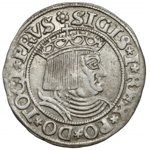 Zygmunt I Stary, Grosz Toruń 1530 - PRVSS - miecz w prawo