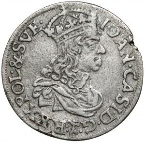 Jan II Kazimierz, Szóstak Kraków 1661 TLB - bez obwódek